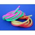 Fluorescenčné silikónové trubice, 2,5x5,5 mm, 2pz, 1m