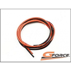 G-Force RC GF-1340-004 Silikon Kabel Superflex 1,3mm² 16AWG 490/0.08 Stränge 1m Rot + 1m Schwarz