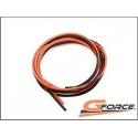 G-Force RC GF-1340-004 Silikon Kabel Superflex 1,3mm² 16AWG 490/0.08 Stränge 1m Rot + 1m Schwarz