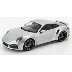 MINICHAMPS - 1/18 - PORSCHE - 911 992 TURBO S COUPE 2020 -SILVER