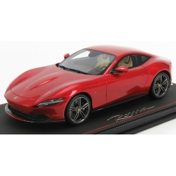 BBR-MODELS - 1/18 - FERRARI - ROMA 2020 - CON VETRINA - WITH SHOWCASE - ROSSO PORTOFINO - RED MET