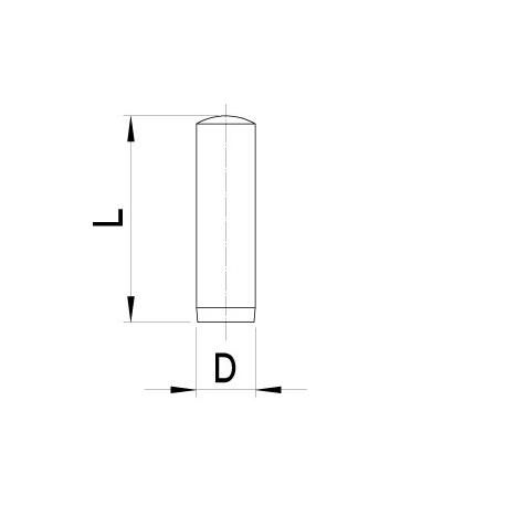 Valcový kolík - 5 kusov