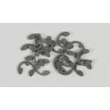 Ocelové pojistné segrovky (éčka), 4mm, 15ks