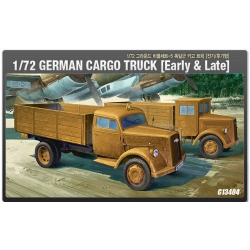 1/72 German Cargo Truck Early  Late 13404 Academy Hobby Model