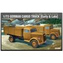 1/72 German Cargo Truck Early  Late 13404 Academy Hobby Model