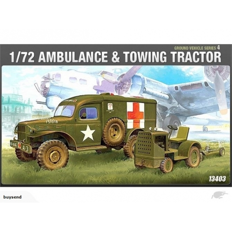 Academy 1/72 WWII Us Ambulance & Tractor  13403 - Vehicle 172 Scale M3