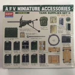Academy Miniature Accessories Allied & German Tank Supplies Set II 1383