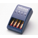 Protech AA-batterilader - T0245